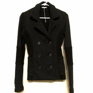 Black double breasted blazer jacket